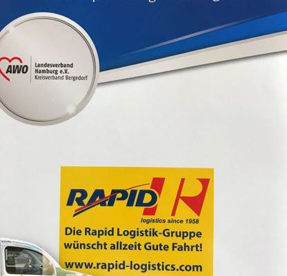 Rapid_Hamburg_Spedition_Fahrzeug_Unterstützung_AWO_Bergededorf